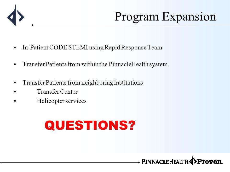 Program Expansion QUESTIONS