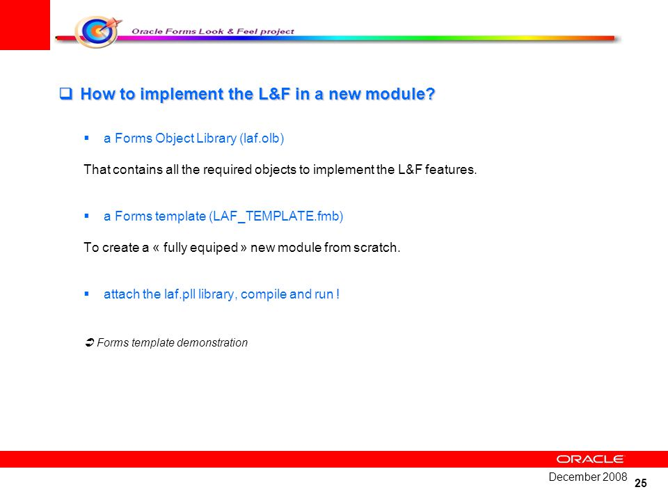 How to implement the L&F in a new module