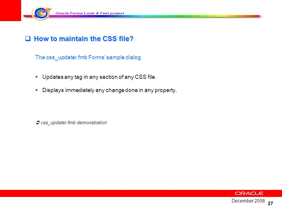 How to maintain the CSS file