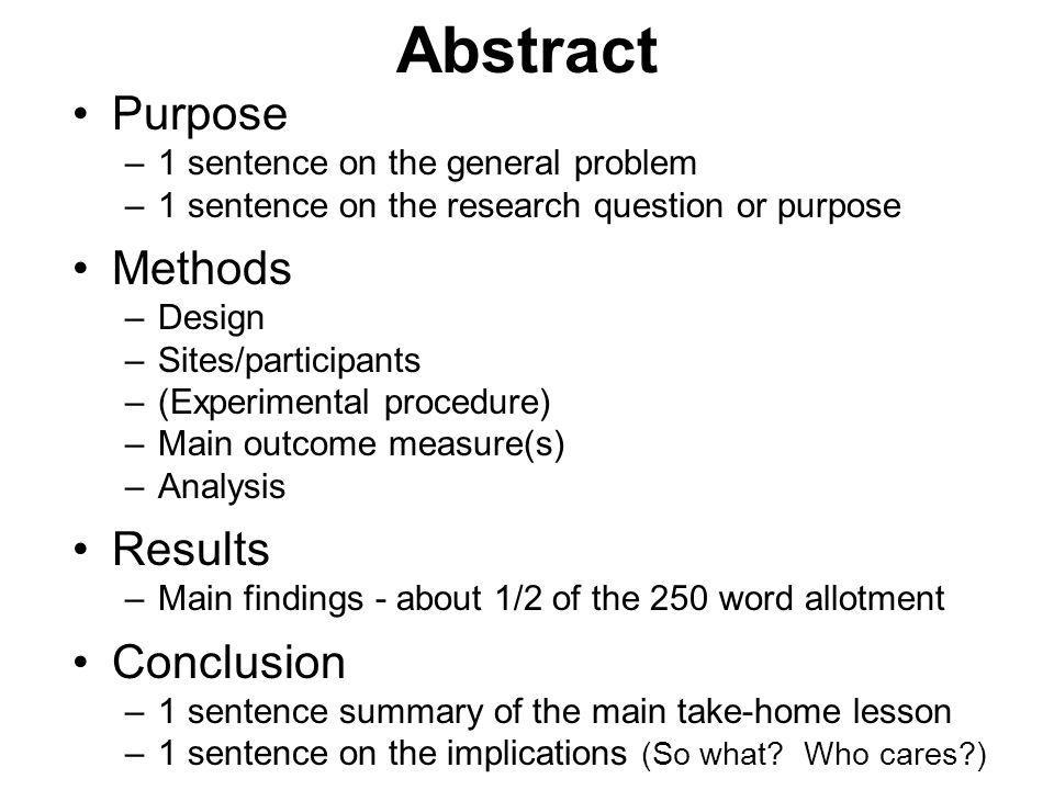 Abstract Purpose Methods Results Conclusion