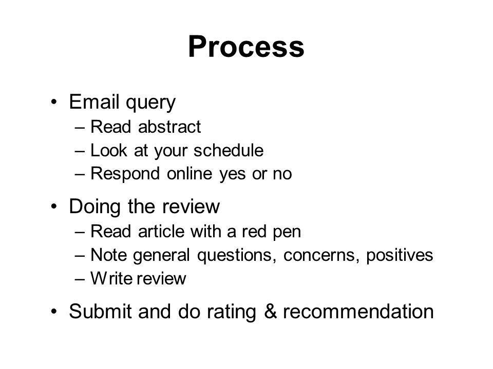 Process Email query Doing the review