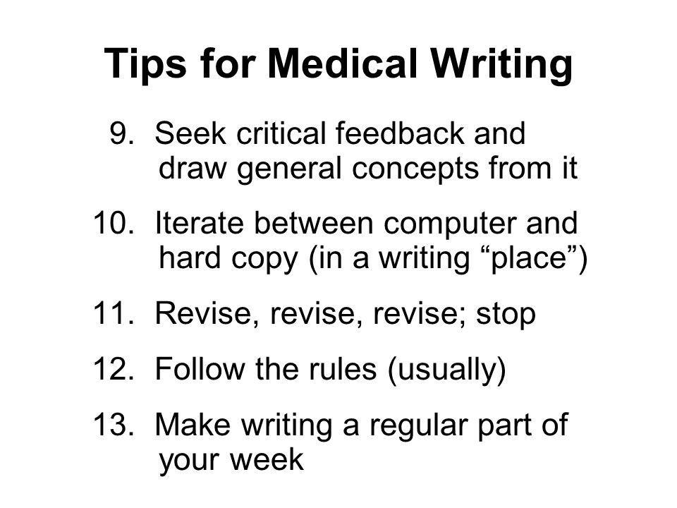 Tips for Medical Writing