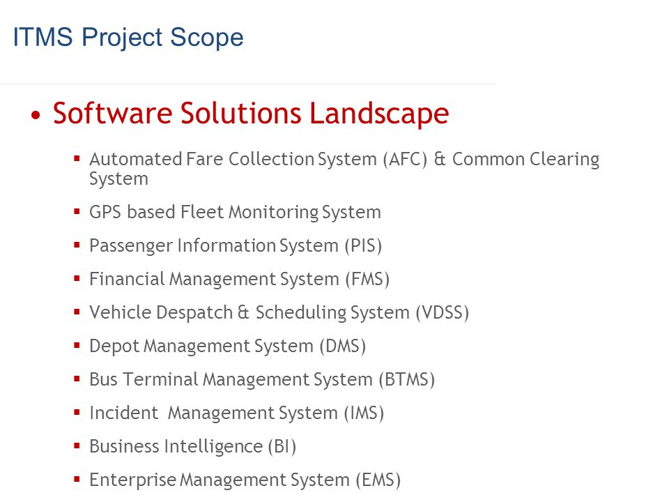 Software Solutions Landscape