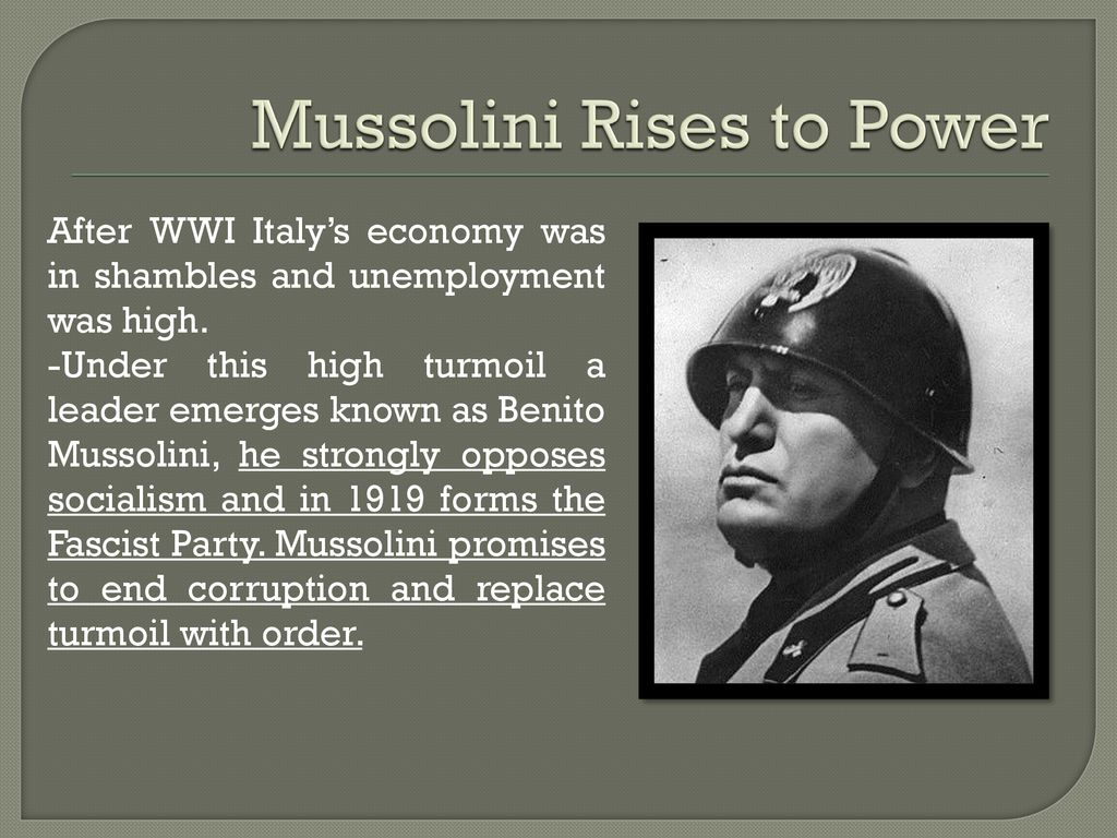 Fascism In Italy Ppt Download