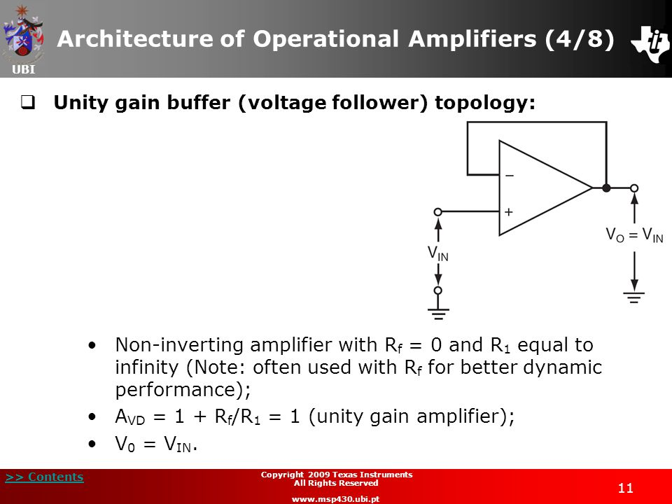 Architecture of Operational Amplifiers (4/8)