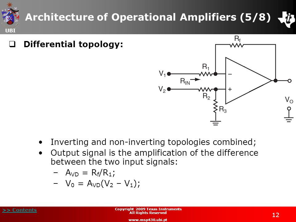 Architecture of Operational Amplifiers (5/8)