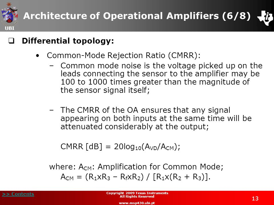 Architecture of Operational Amplifiers (6/8)