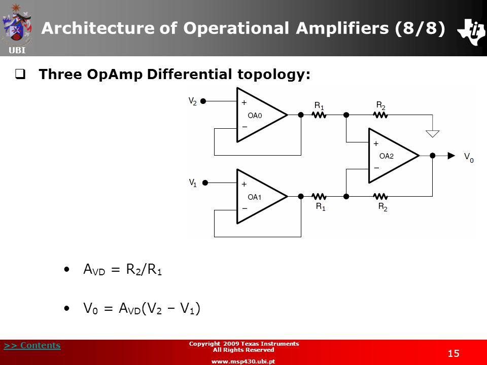 Architecture of Operational Amplifiers (8/8)