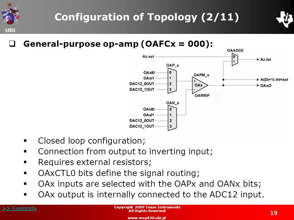 Configuration of Topology (2/11)