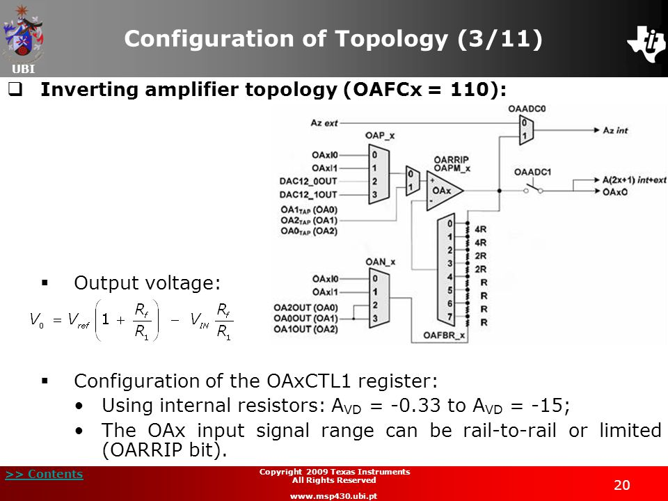 Configuration of Topology (3/11)