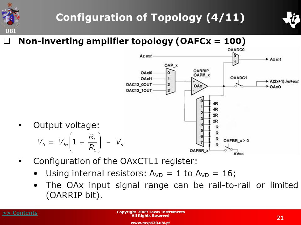 Configuration of Topology (4/11)