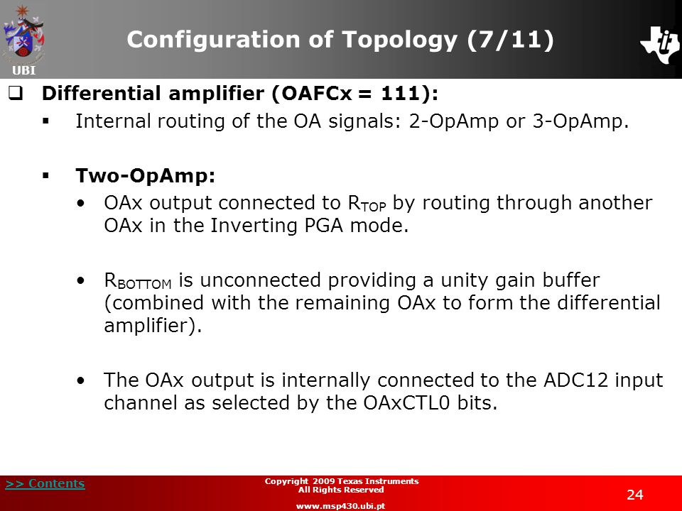 Configuration of Topology (7/11)