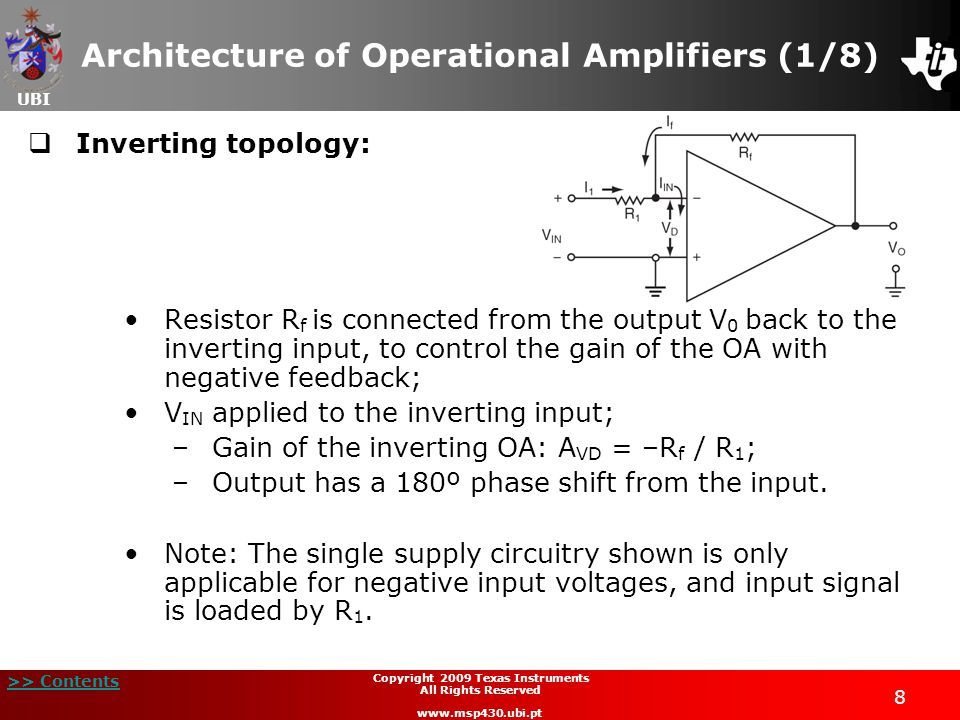 Architecture of Operational Amplifiers (1/8)