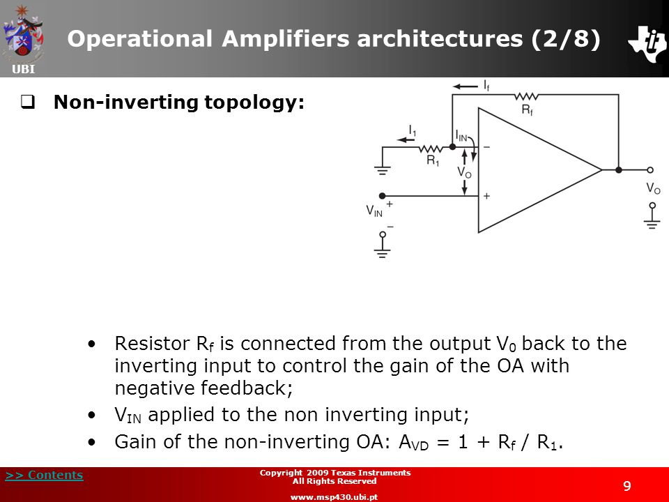 Operational Amplifiers architectures (2/8)