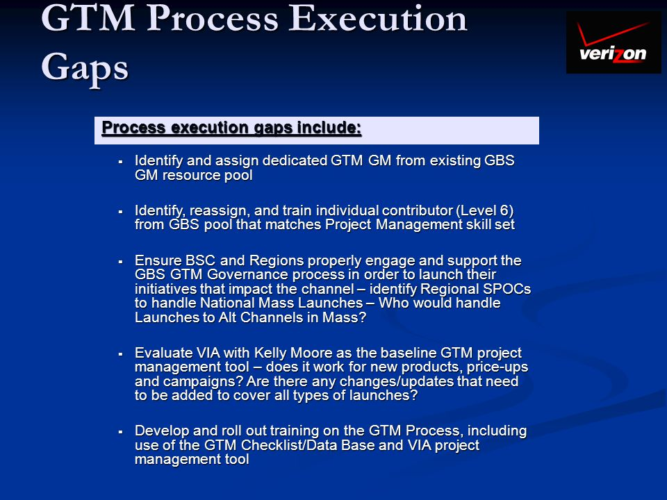 GTM Process Execution Gaps