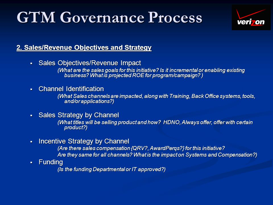 GTM Governance Process