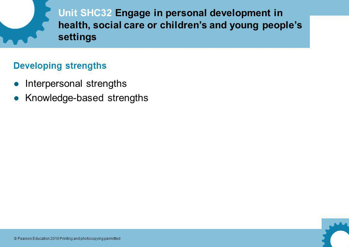 Interpersonal strengths Knowledge-based strengths