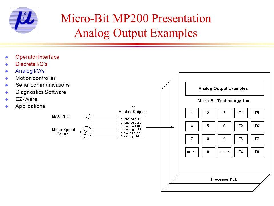 Micro-Bit MP200 Presentation Analog Output Examples