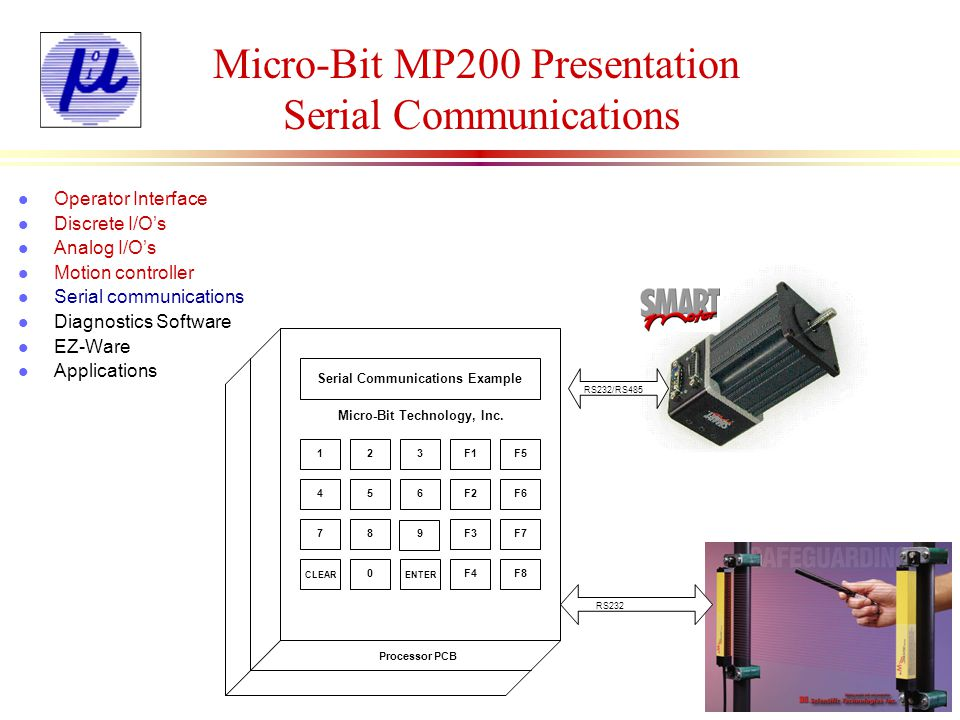 Micro-Bit MP200 Presentation Serial Communications