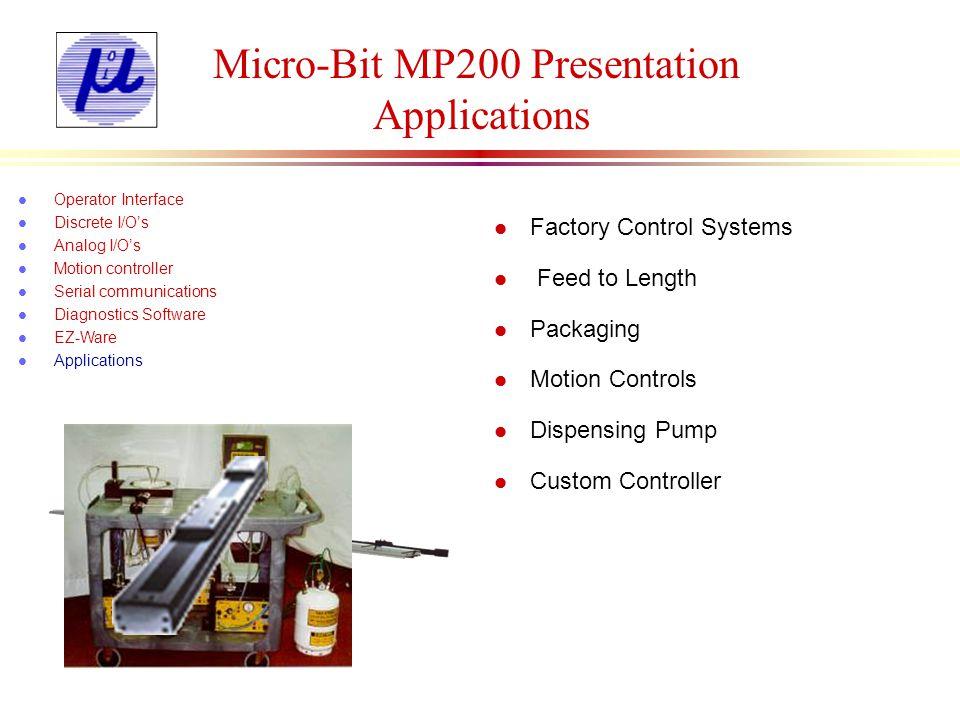 Micro-Bit MP200 Presentation Applications