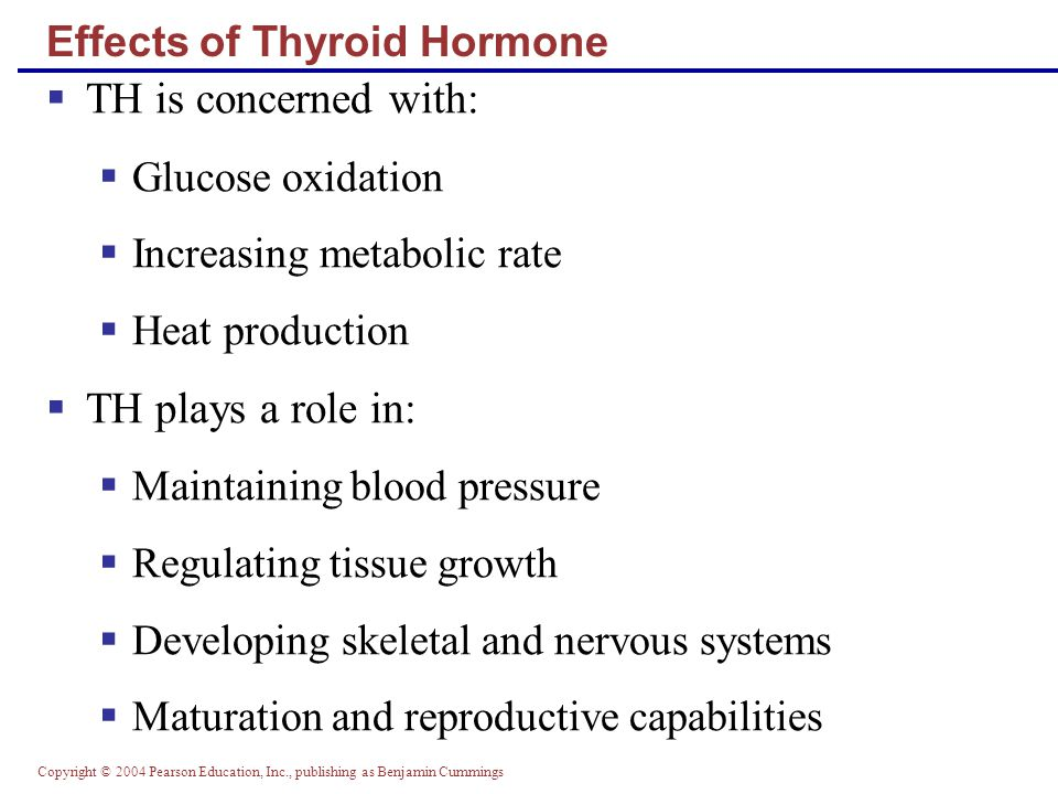 Effects of Thyroid Hormone