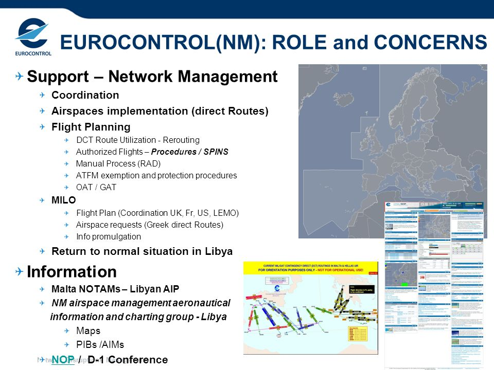EUROCONTROL(NM): ROLE and CONCERNS
