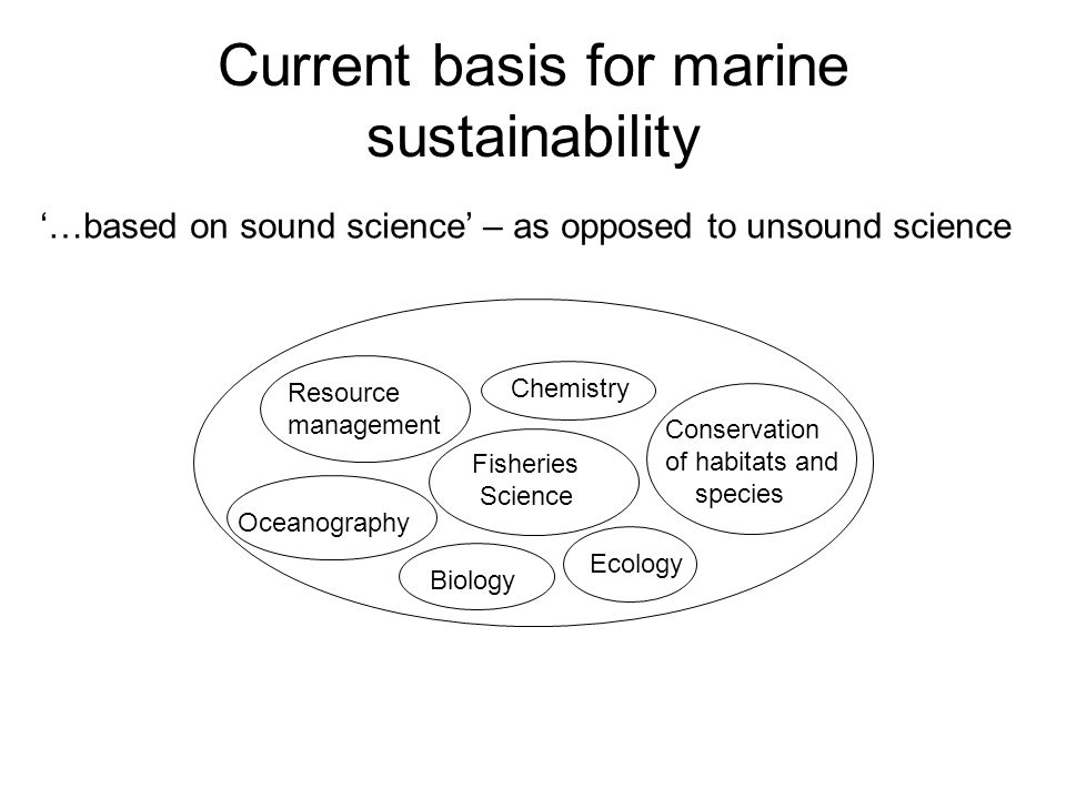 Current basis for marine sustainability