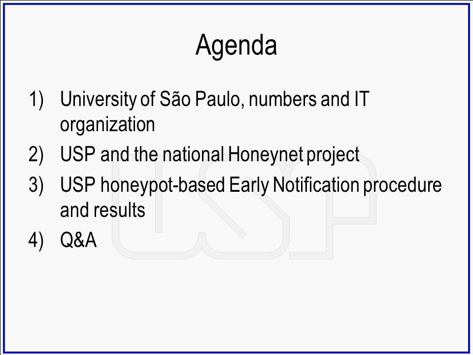 Agenda University of São Paulo, numbers and IT organization