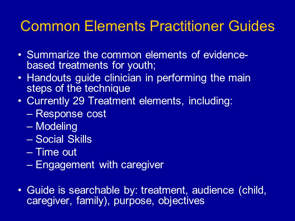 Common Elements Practitioner Guides