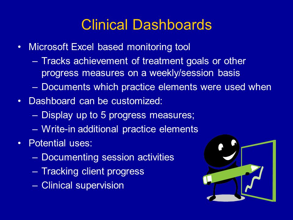 Clinical Dashboards Microsoft Excel based monitoring tool