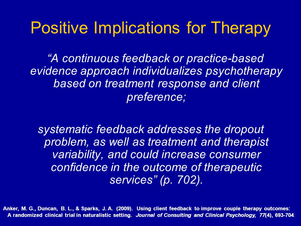 Positive Implications for Therapy