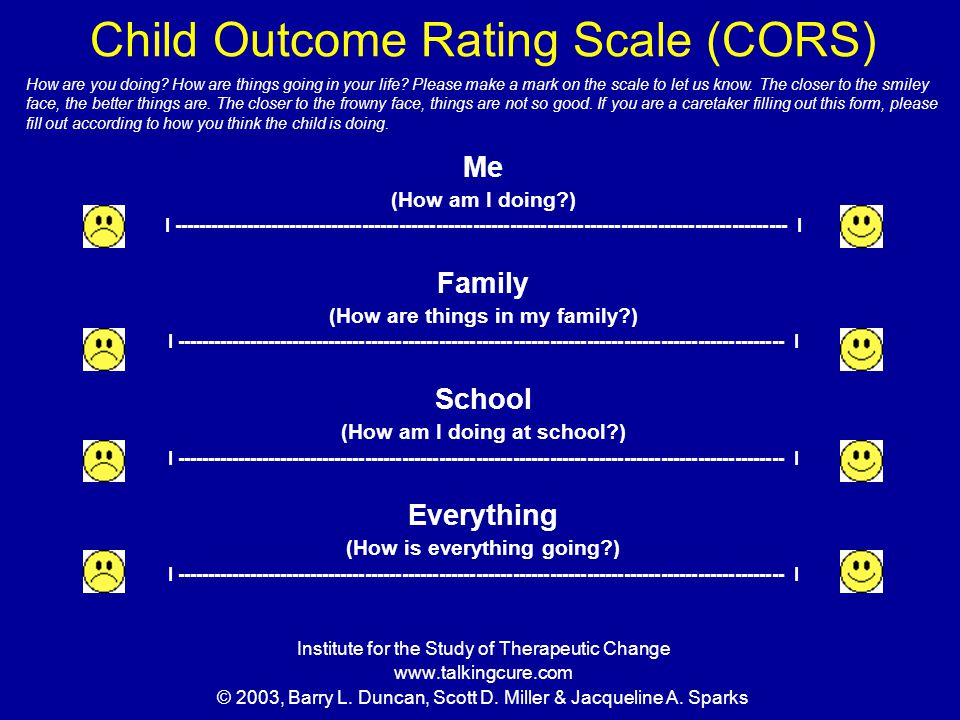 Child Outcome Rating Scale (CORS)