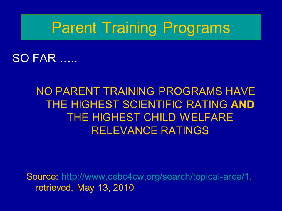 Parent Training Programs