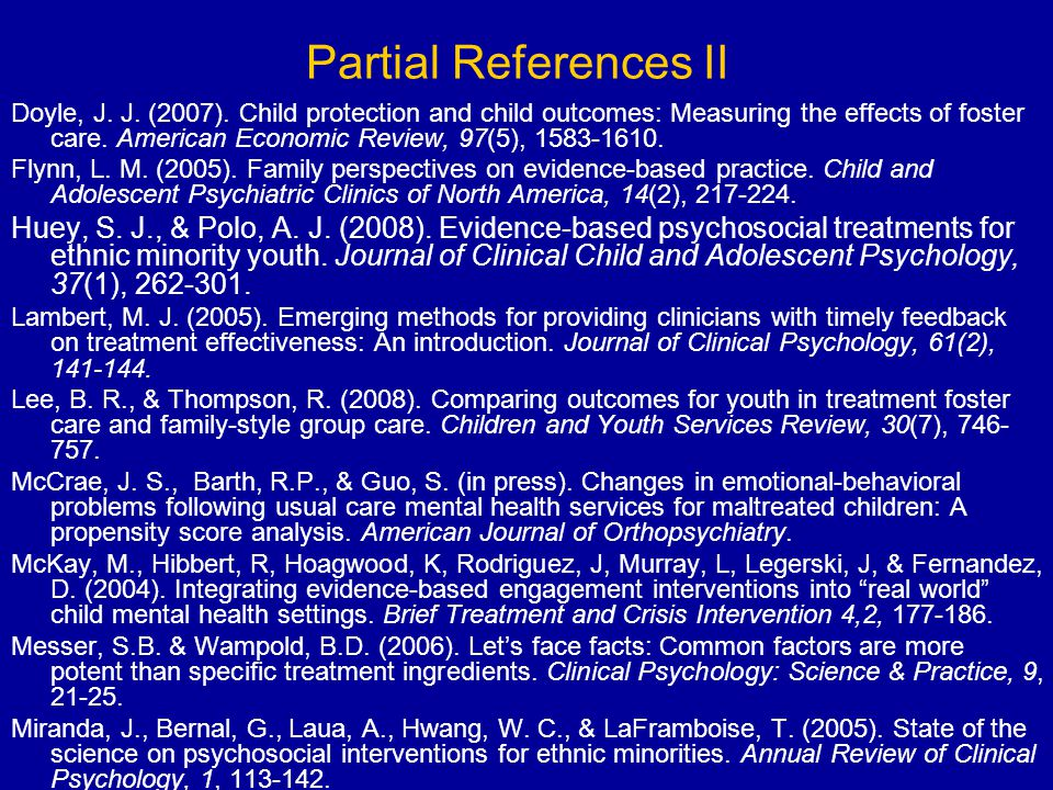 Partial References II