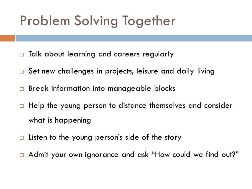 Problem Solving Together