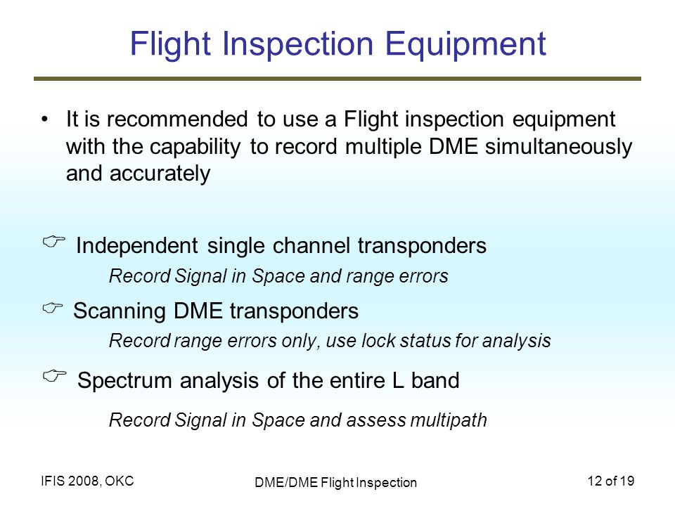 Flight Inspection Equipment