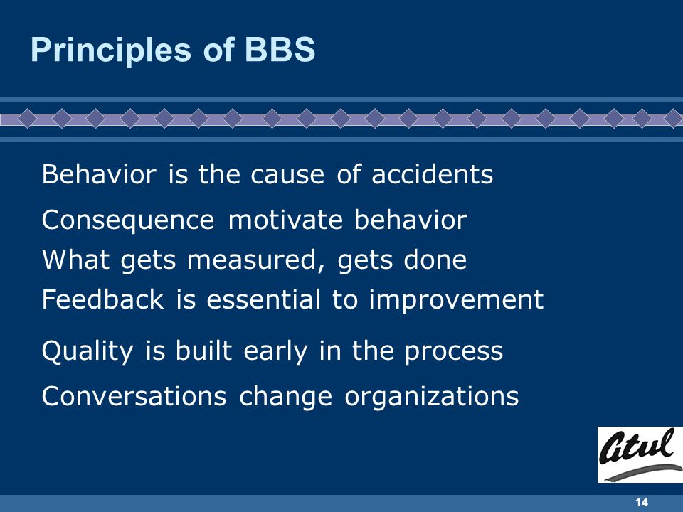 Principles of BBS Behavior is the cause of accidents