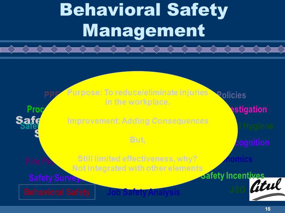 Behavioral Safety Management