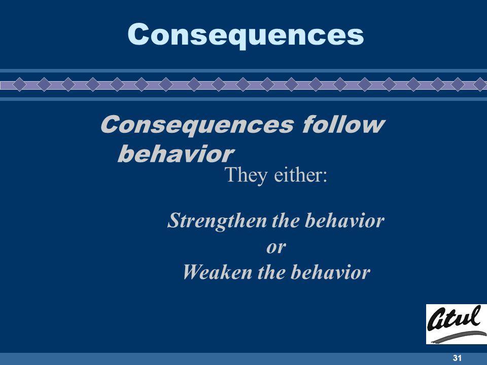 Strengthen the behavior