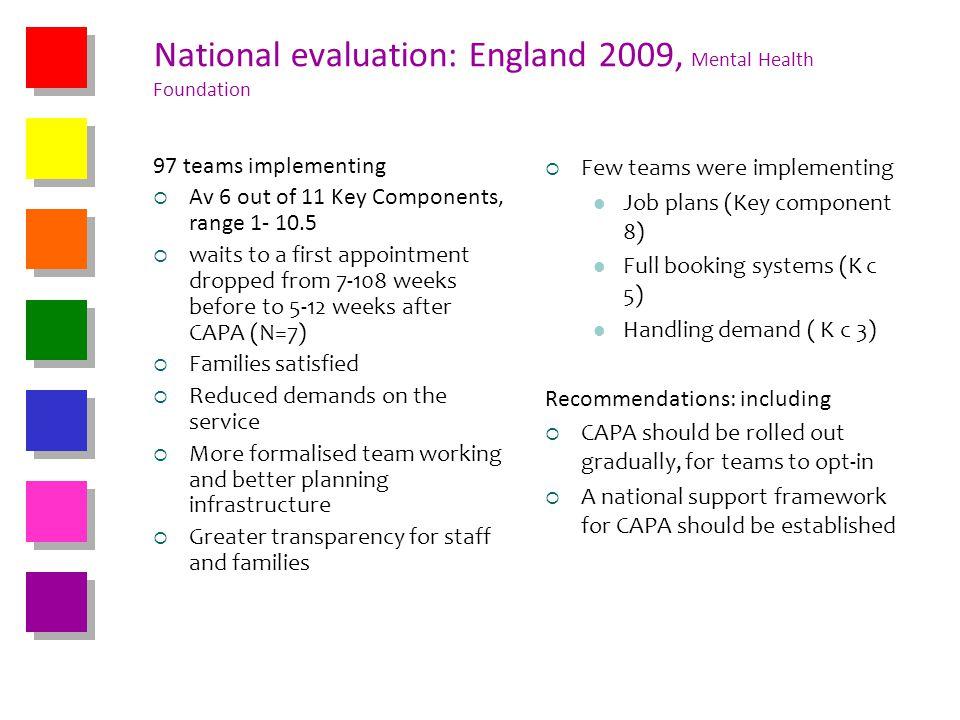 National evaluation: England 2009, Mental Health Foundation