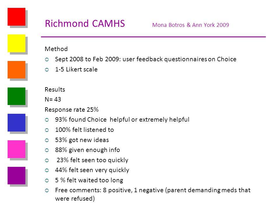 Richmond CAMHS Mona Botros & Ann York 2009