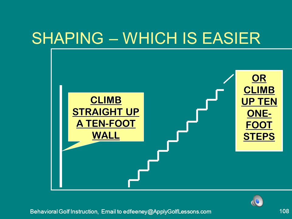 SHAPING – WHICH IS EASIER