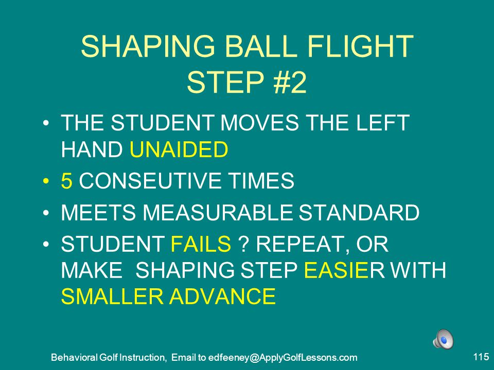 SHAPING BALL FLIGHT STEP #2
