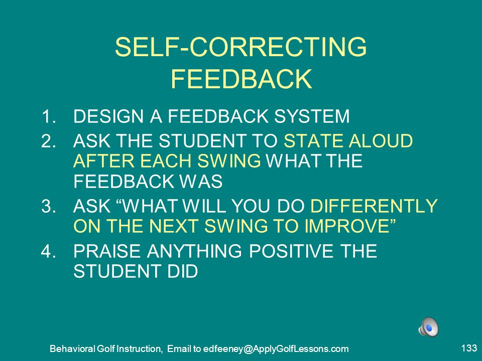 SELF-CORRECTING FEEDBACK
