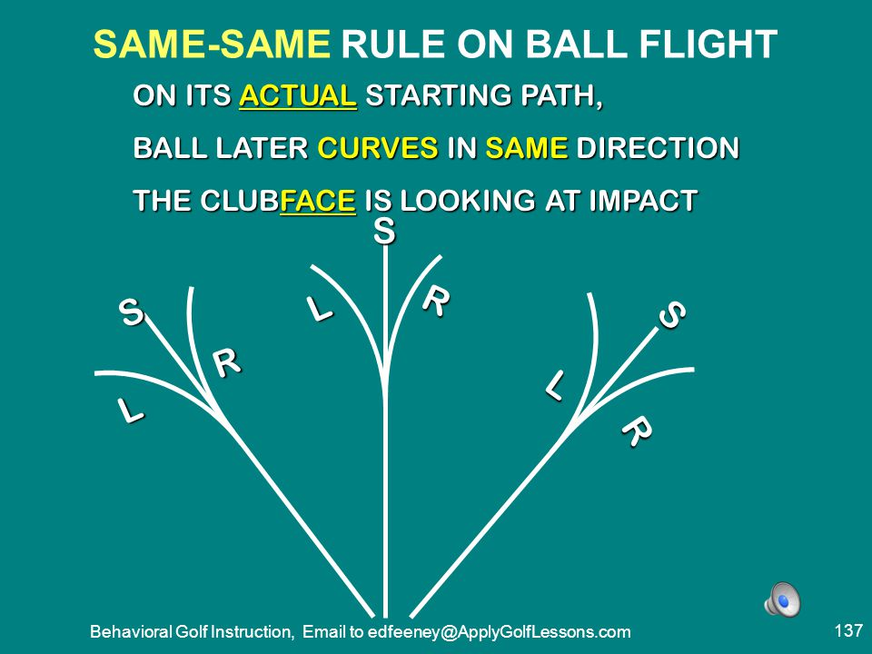 SAME-SAME RULE ON BALL FLIGHT