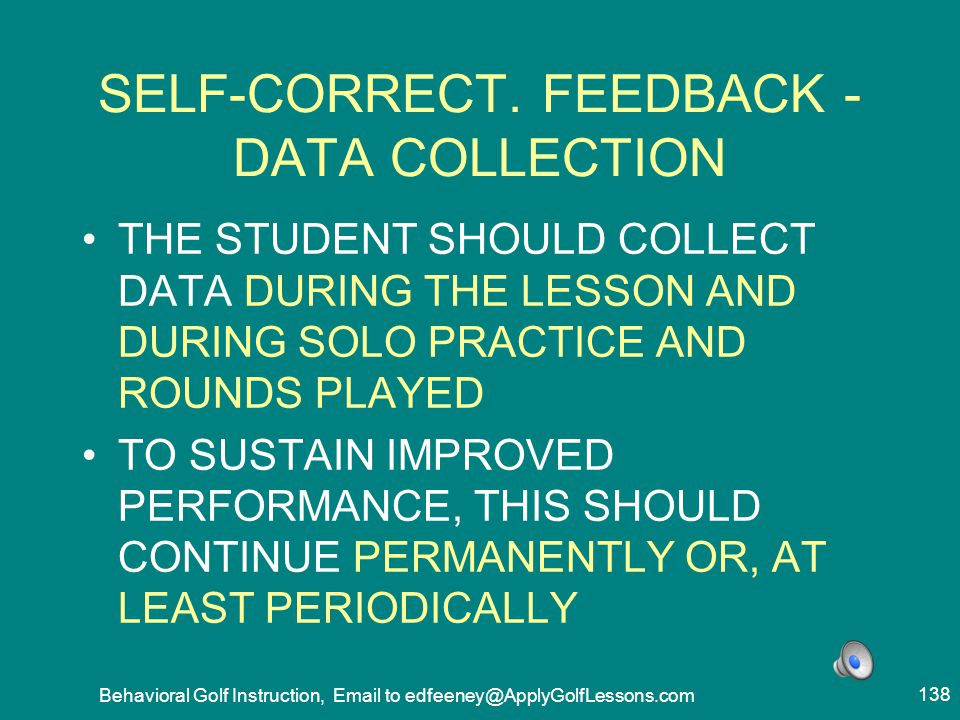 SELF-CORRECT. FEEDBACK -DATA COLLECTION