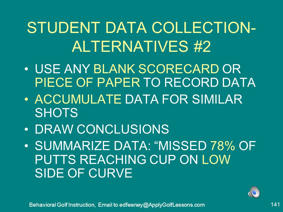 STUDENT DATA COLLECTION- ALTERNATIVES #2