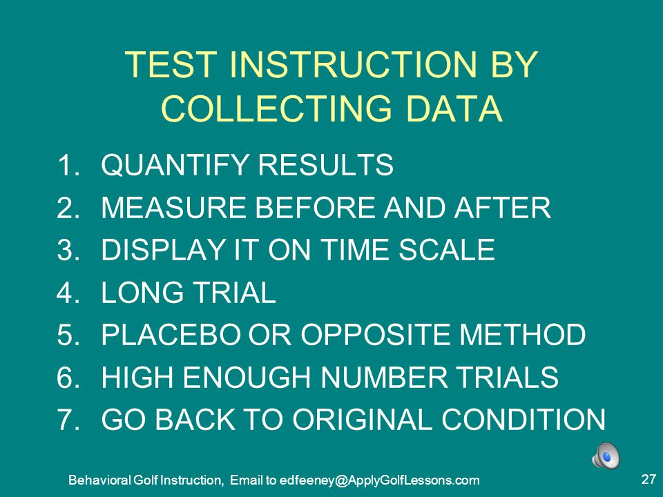 TEST INSTRUCTION BY COLLECTING DATA