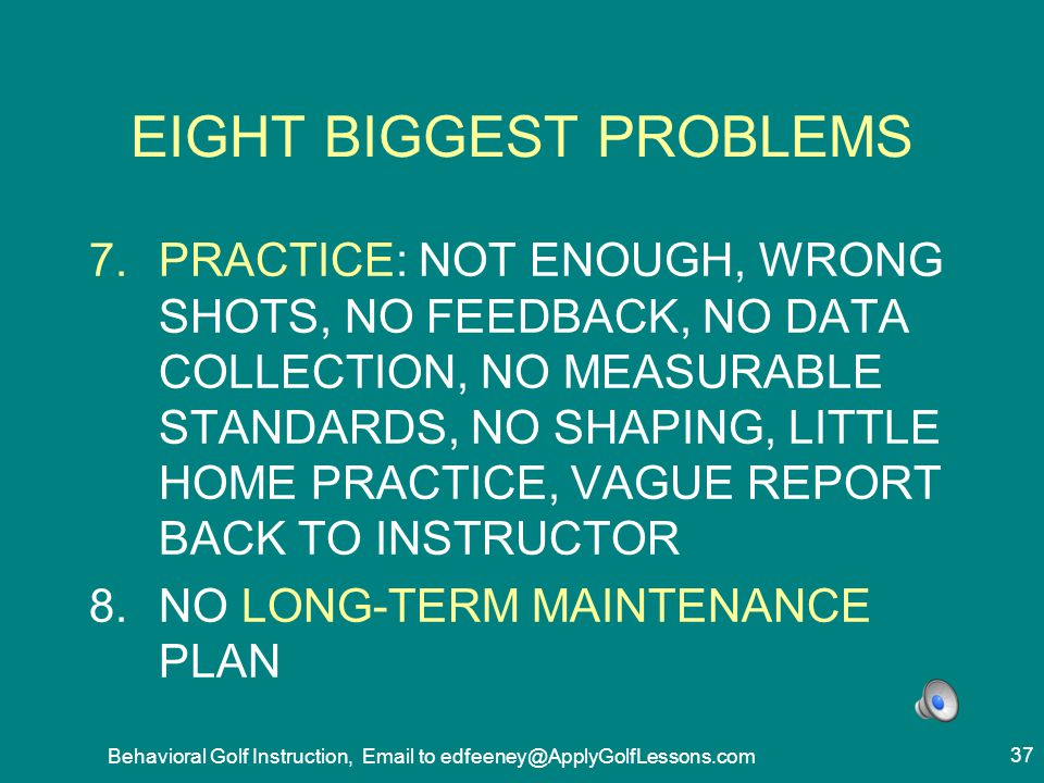 EIGHT BIGGEST PROBLEMS