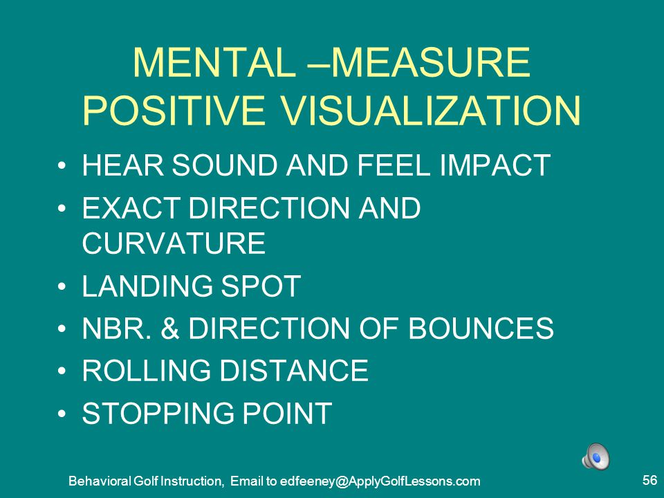 MENTAL –MEASURE POSITIVE VISUALIZATION